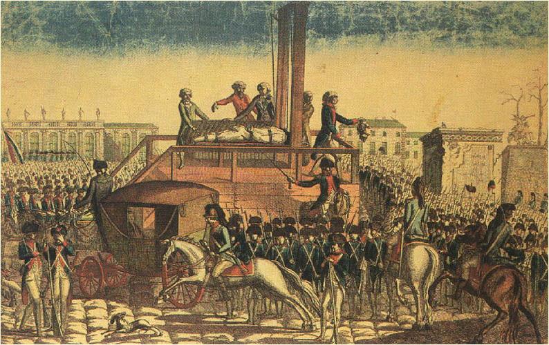 Mort de Louis XVI guillotine